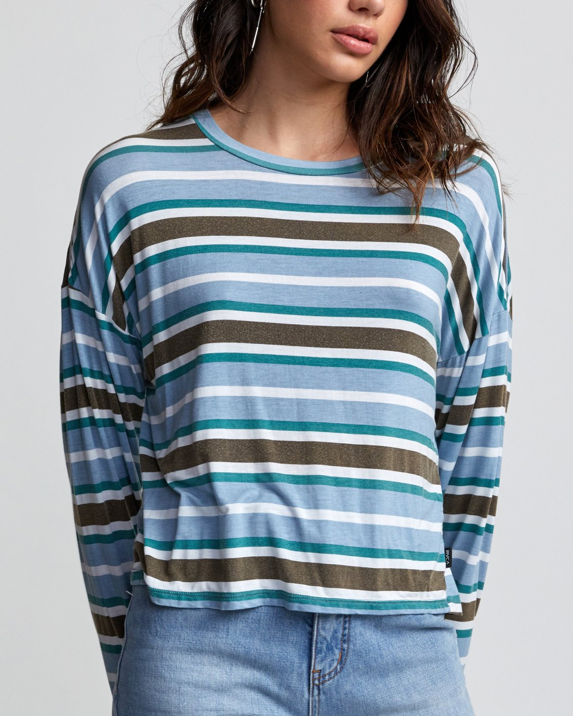 2 COUNTDOWN LONG SLEEVE TOP Multicolor W9073RCO RVCA