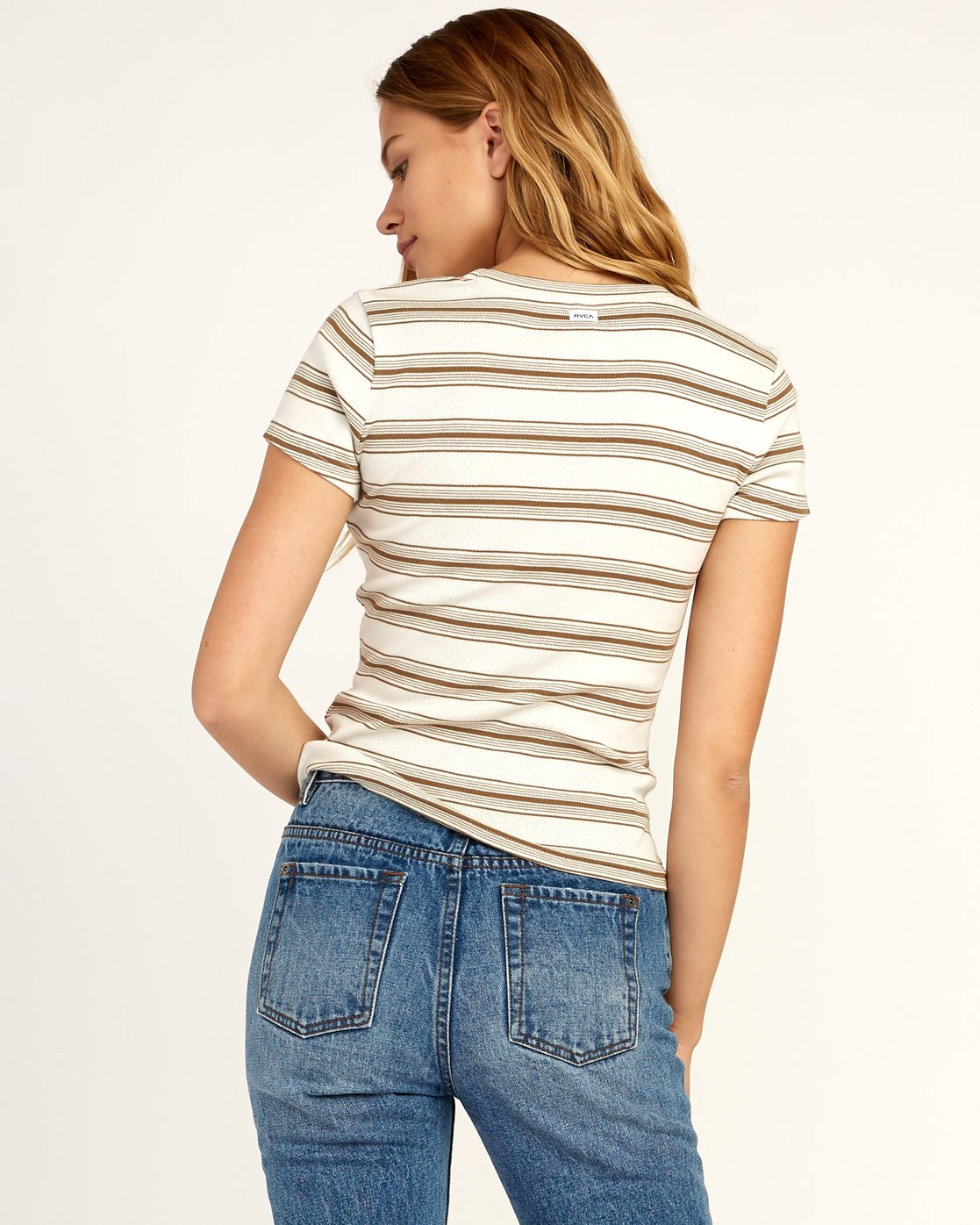 2 Seasons Change Striped Top Beige W907TRSC RVCA