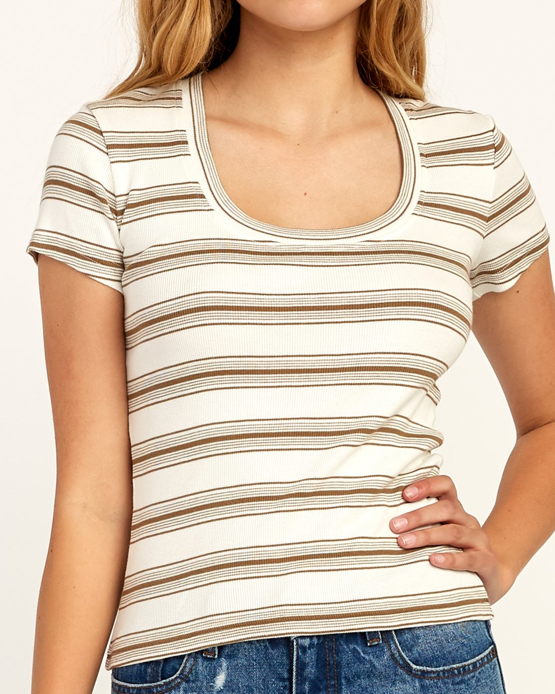 3 Seasons Change Striped Top Beige W907TRSC RVCA