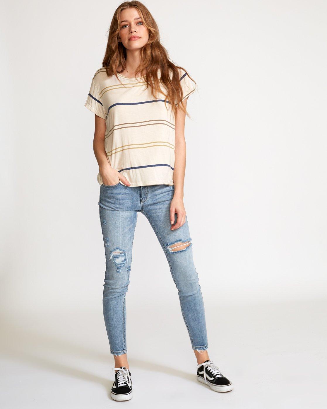 4 Recess 2 Knit T-Shirt Beige W907VRR2 RVCA