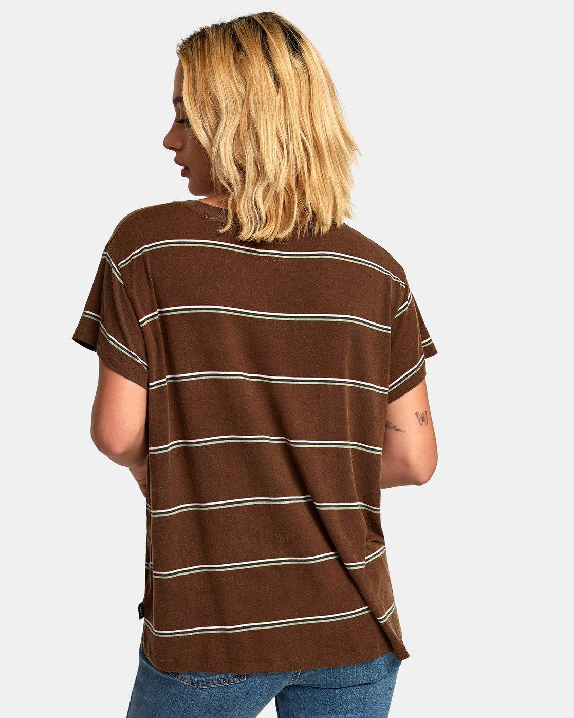 3 Recess 2 Knit T-Shirt Brown W907VRR2 RVCA