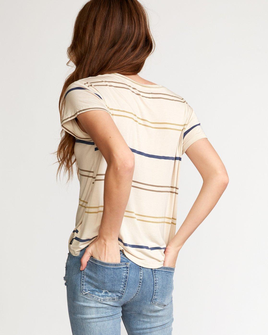 2 Recess 2 Knit T-Shirt Beige W907VRR2 RVCA