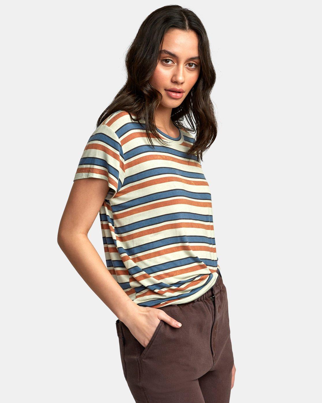 1 Recess 2 Knit T-Shirt Beige W907VRR2 RVCA