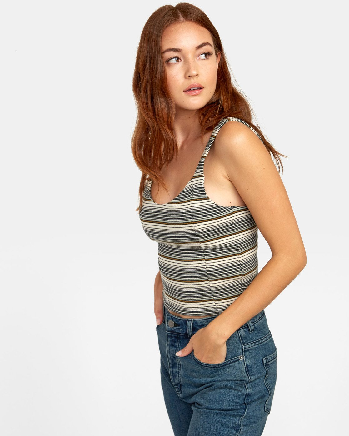 4 MARGOT TANK TOP Brown W9081RMR RVCA