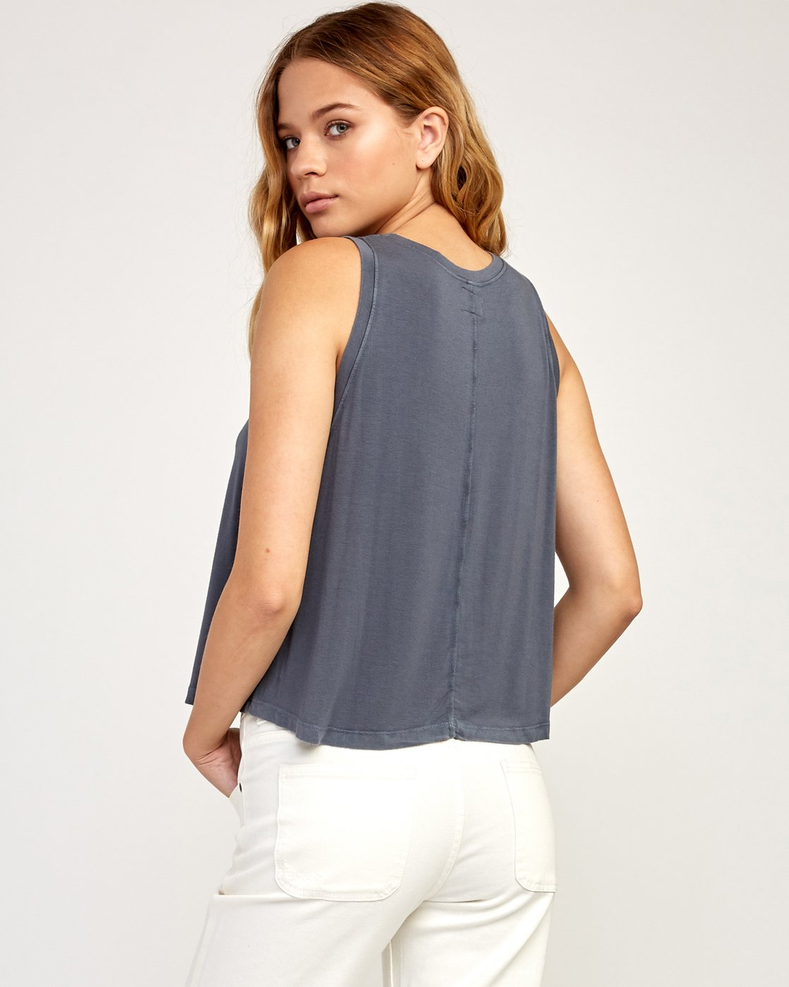 2 Happy Place Tank Top Grey W908TRHA RVCA