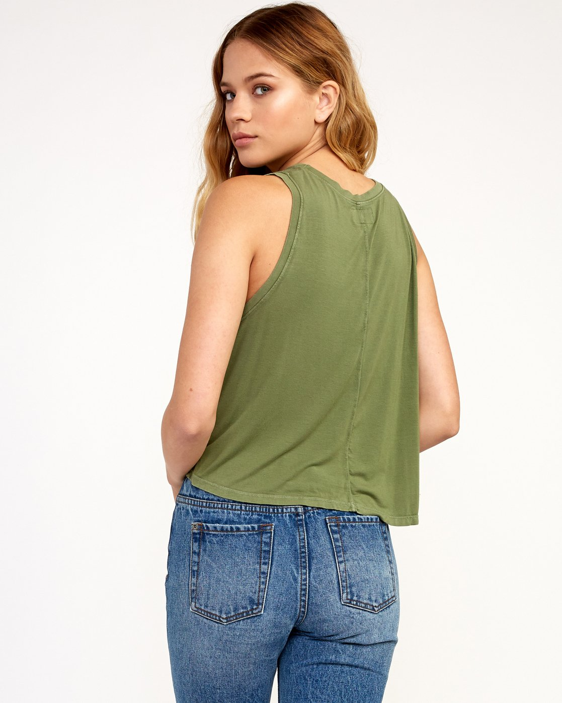 2 Happy Place Tank Top Green W908TRHA RVCA