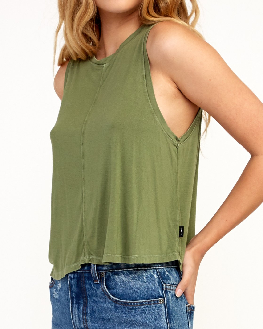 3 Happy Place Tank Top Green W908TRHA RVCA