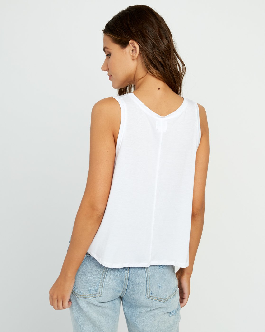 2 Happy Place Tank Top White W908TRHA RVCA