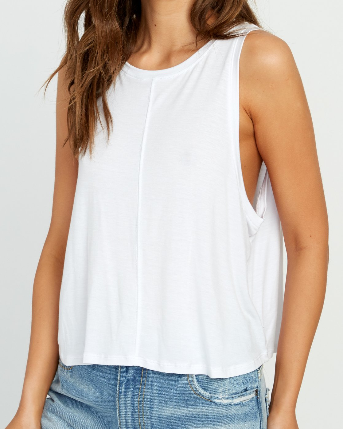 3 Happy Place Tank Top White W908TRHA RVCA