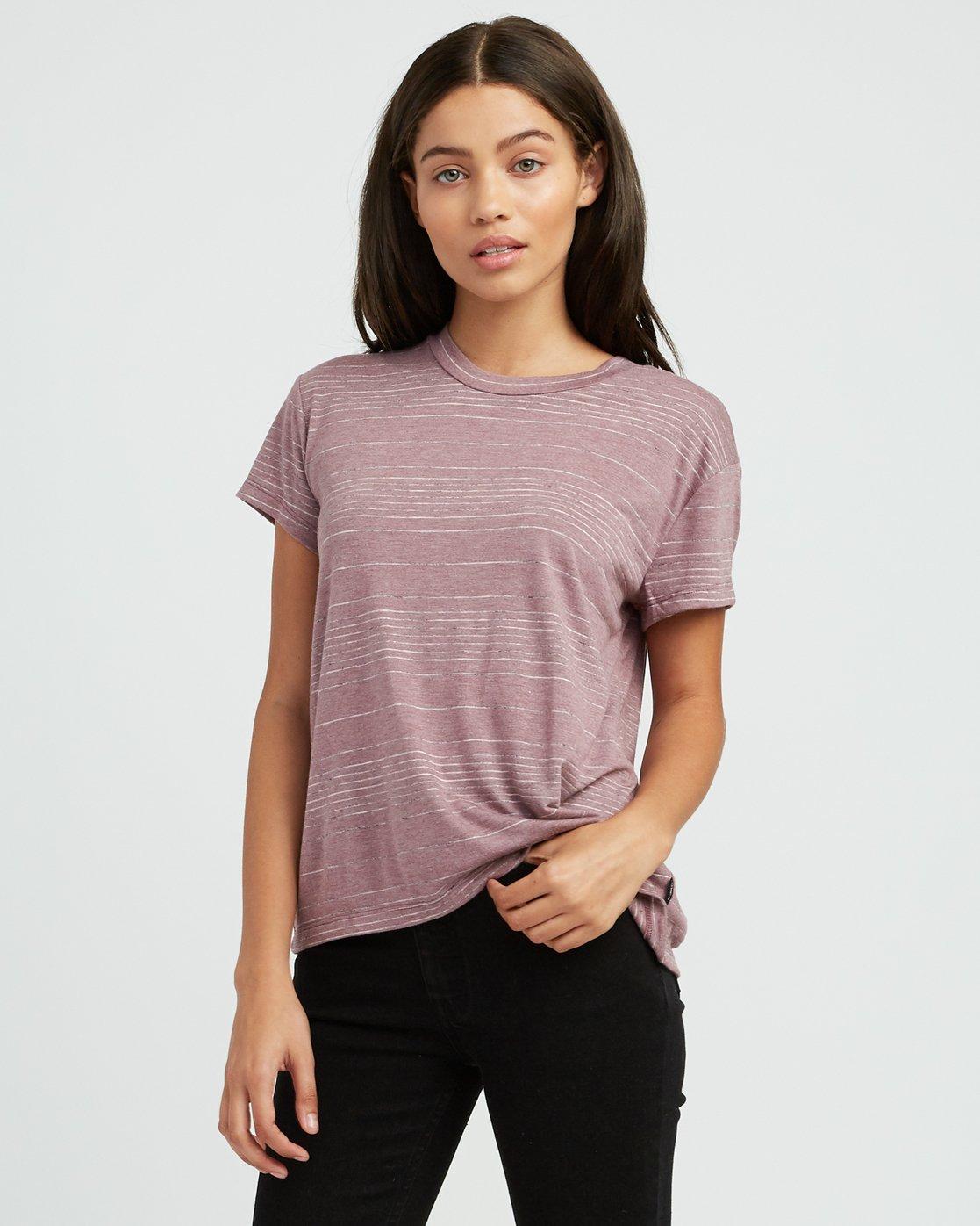 1 Suspension 2 Knit T-Shirt Pink W913SRSU RVCA
