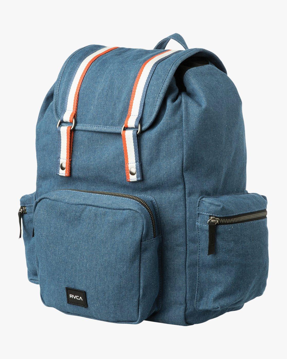 9779e3369f 0 Primo Denim Backpack Blue WABKPRPR RVCA