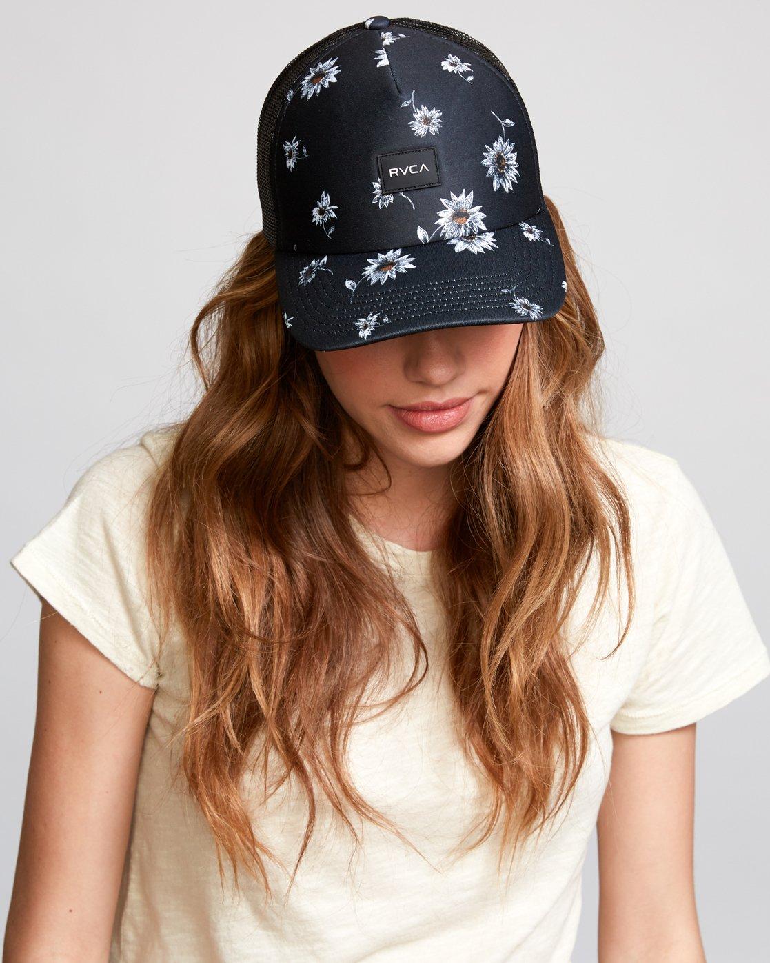 1 Avril Trucker Hat Black WAHWVRAV RVCA