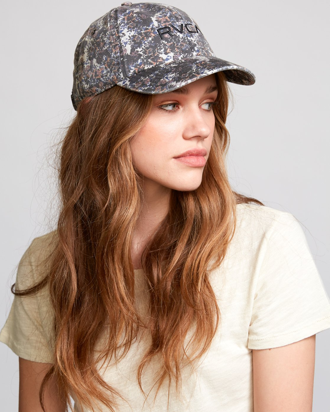 1 Staple Dad Hat Grey WAHWVRST RVCA