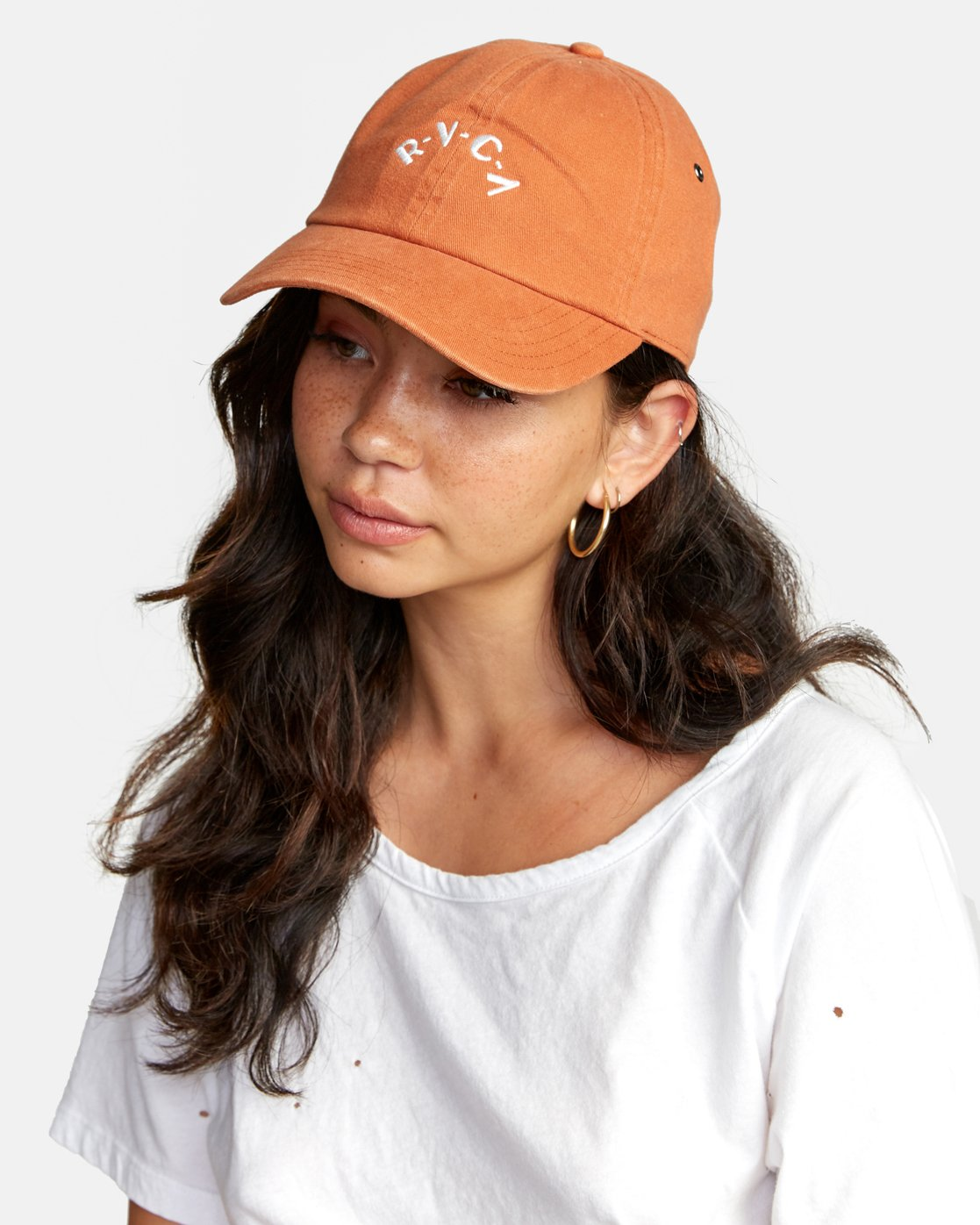 0 STAPLE DAD HAT Orange WAHWWRST RVCA