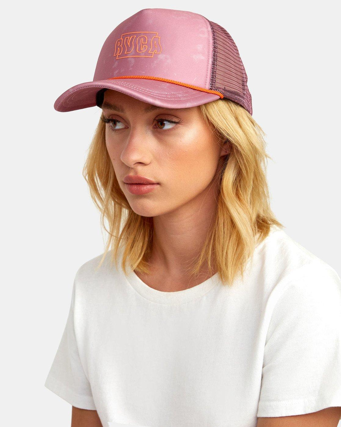1 UNPHASED TRUCKER HAT Pink WAHWWRUN RVCA
