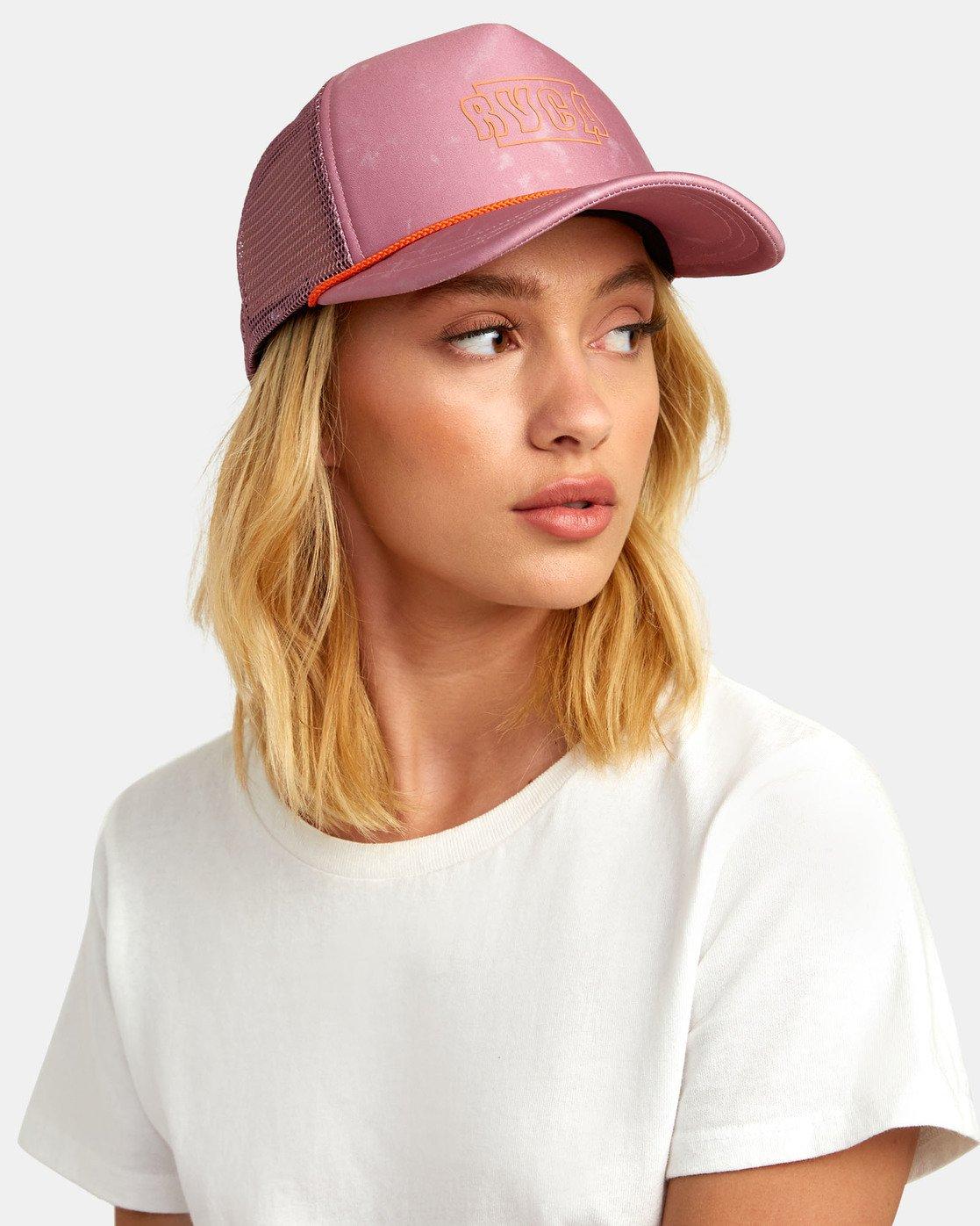 2 UNPHASED TRUCKER HAT Pink WAHWWRUN RVCA
