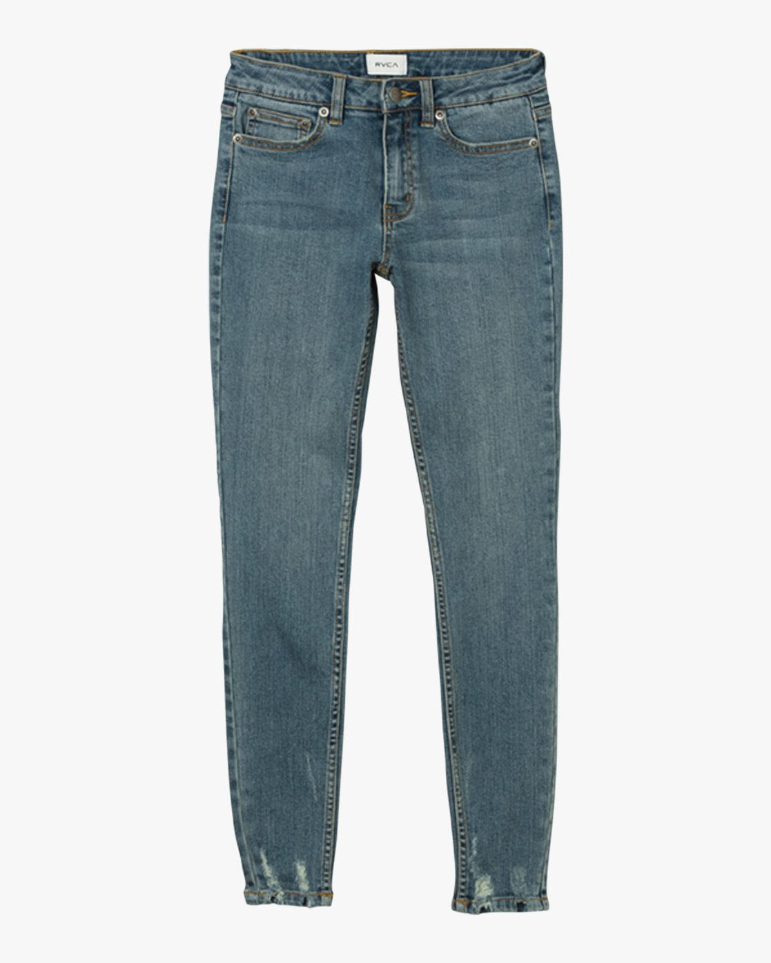 5 Dayley Mid Rise Denim Jeans Blue WCDP02DA RVCA