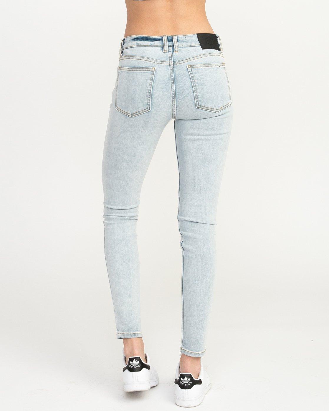 3 Dayley Mid Rise Denim Jeans White WCDP02DA RVCA