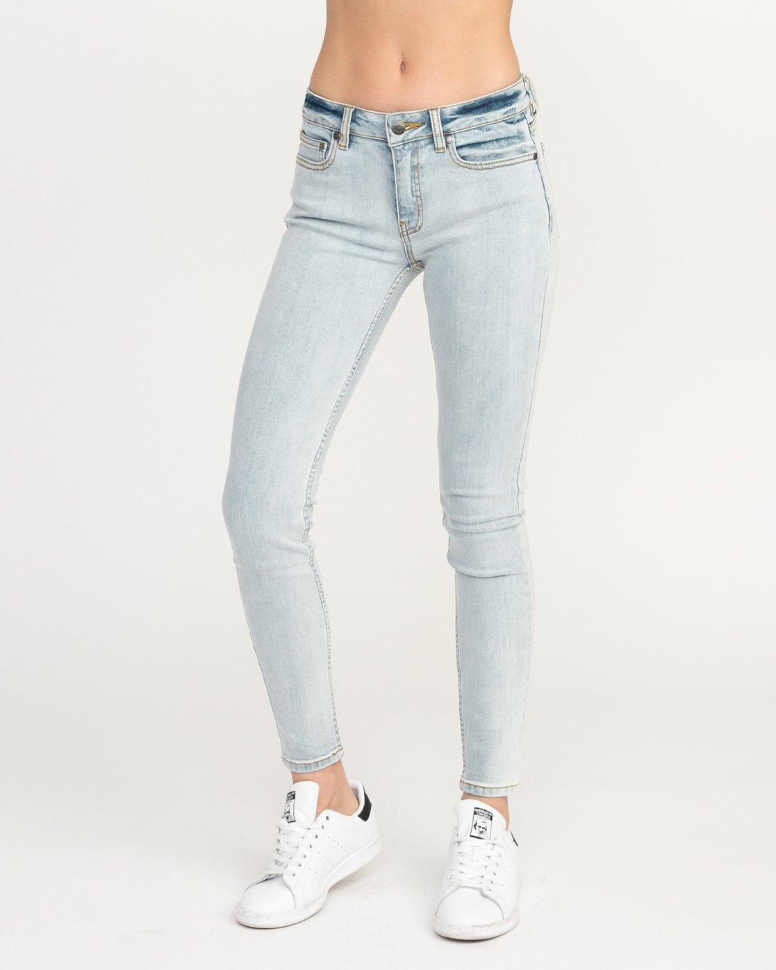 0 Dayley Mid Rise Denim Jeans White WCDP02DA RVCA