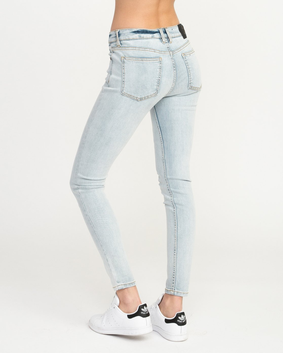 2 Dayley Mid Rise Denim Jeans White WCDP02DA RVCA