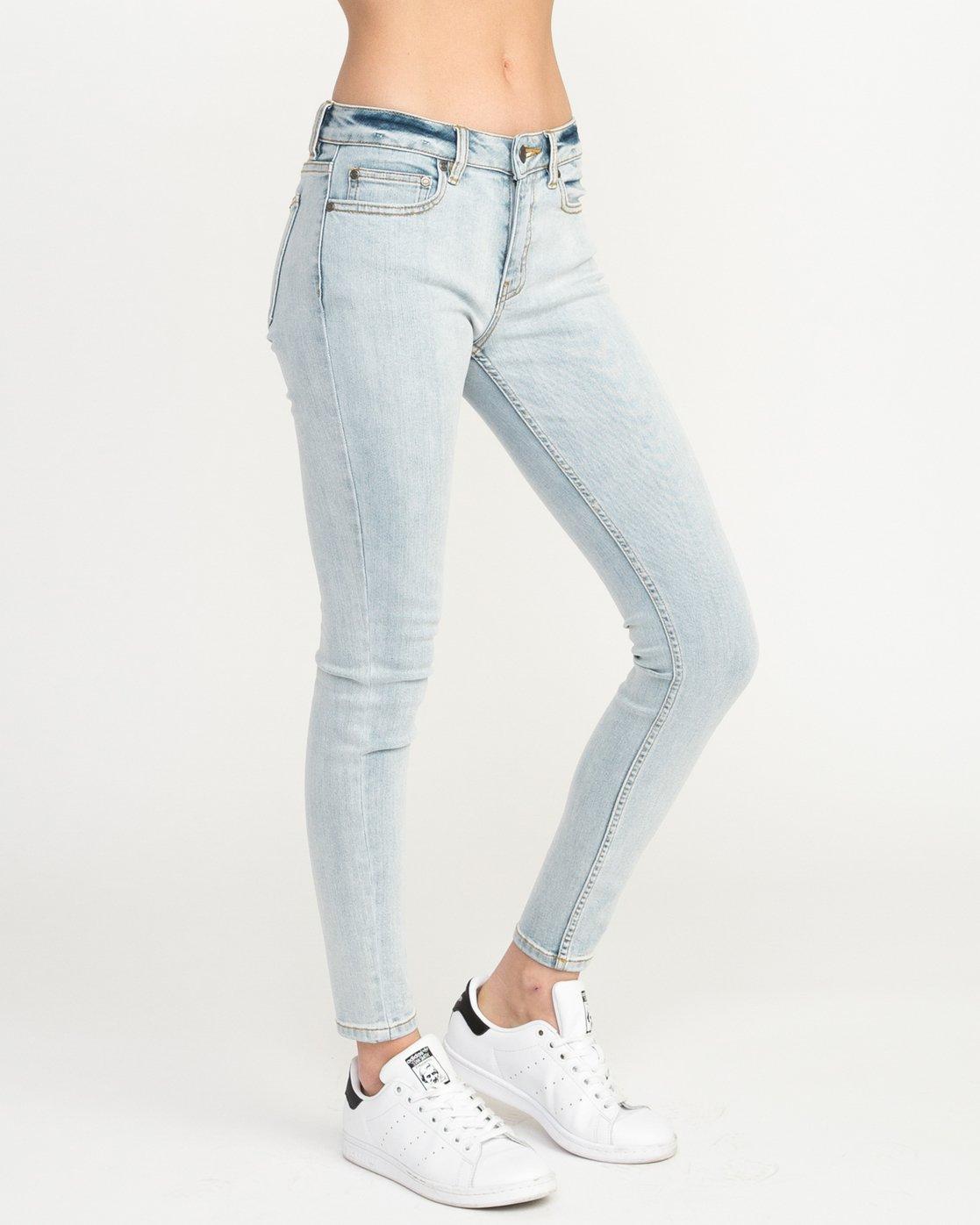 5 Dayley Mid Rise Denim Jeans White WCDP02DA RVCA
