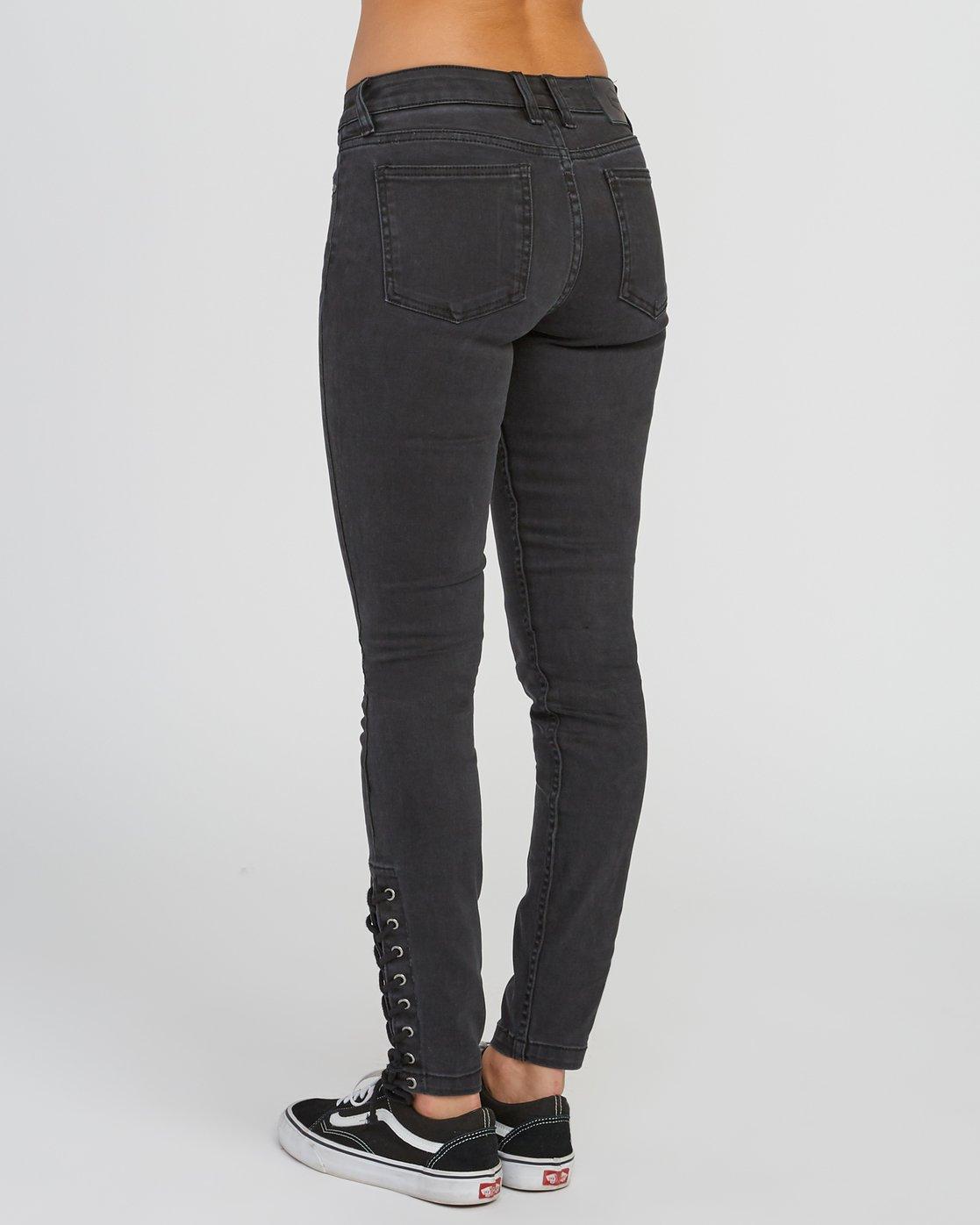 2 Dayley Mid Rise Denim Jeans Black WCDP02DA RVCA