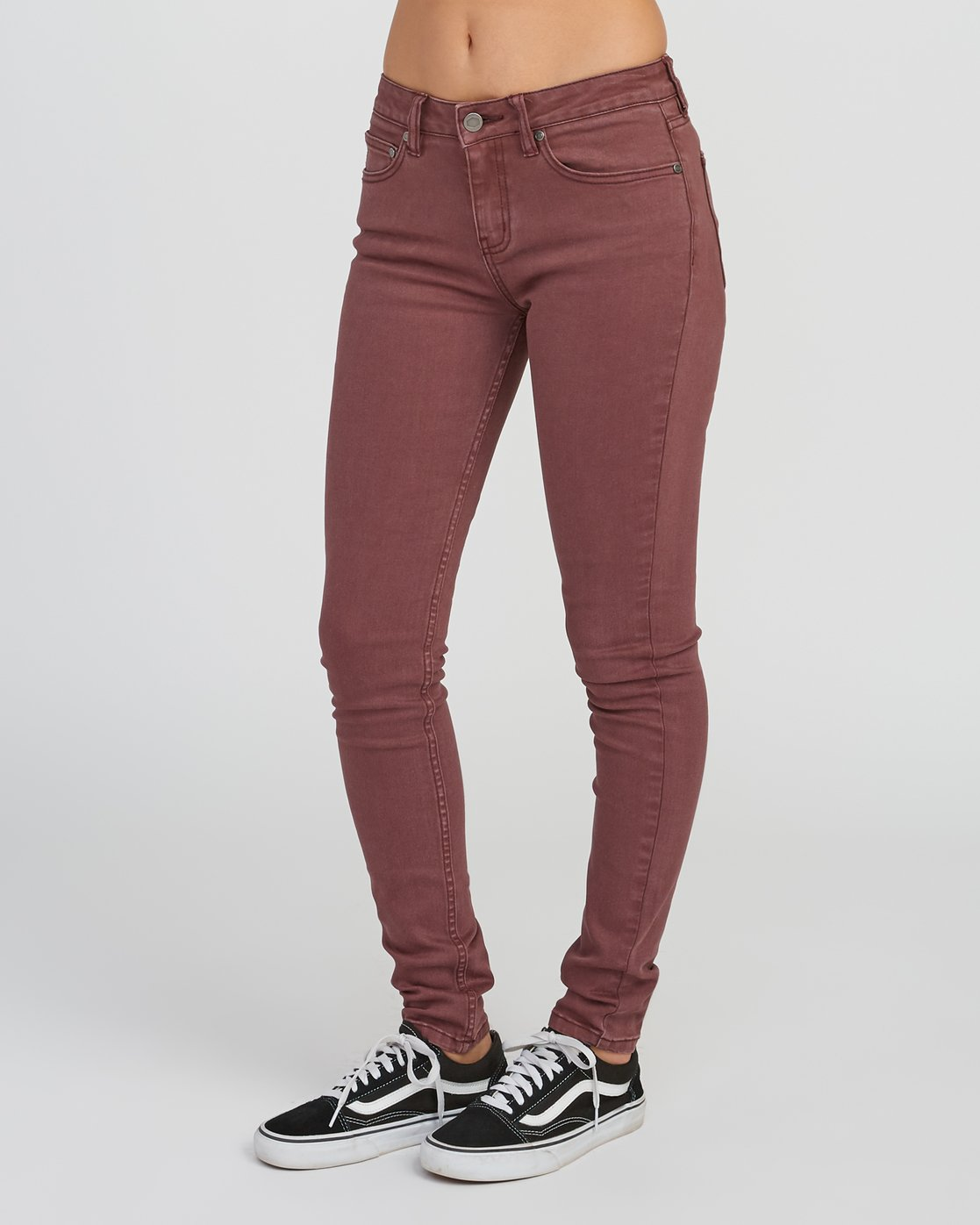 1 Dayley Mid Rise Denim Jeans Pink WCDP02DA RVCA