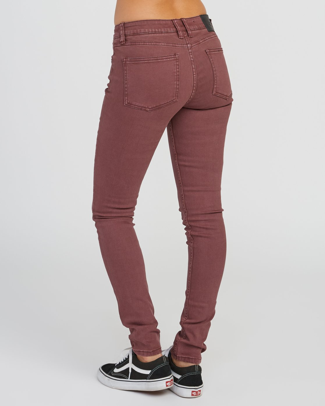 2 Dayley Mid Rise Denim Jeans Pink WCDP02DA RVCA