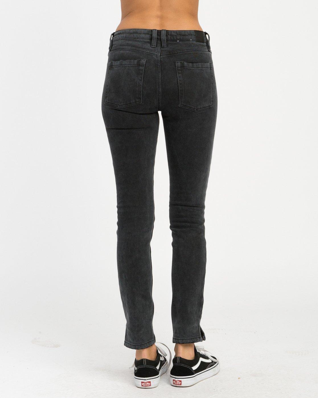 4 Dayley Mid Rise Denim Jeans Black WCDP02DA RVCA