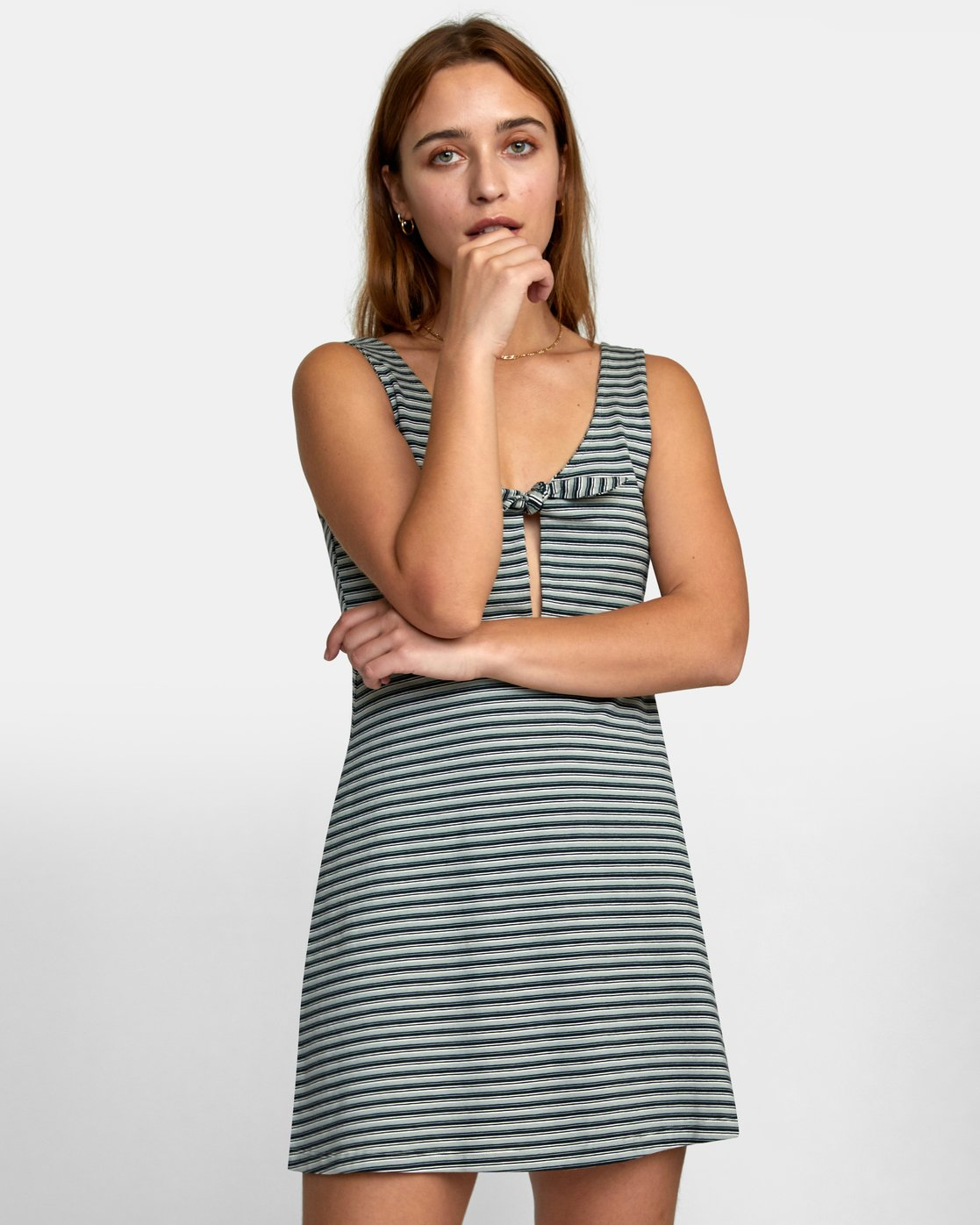 0 DENZEL DRESS Grey WD012RDE RVCA