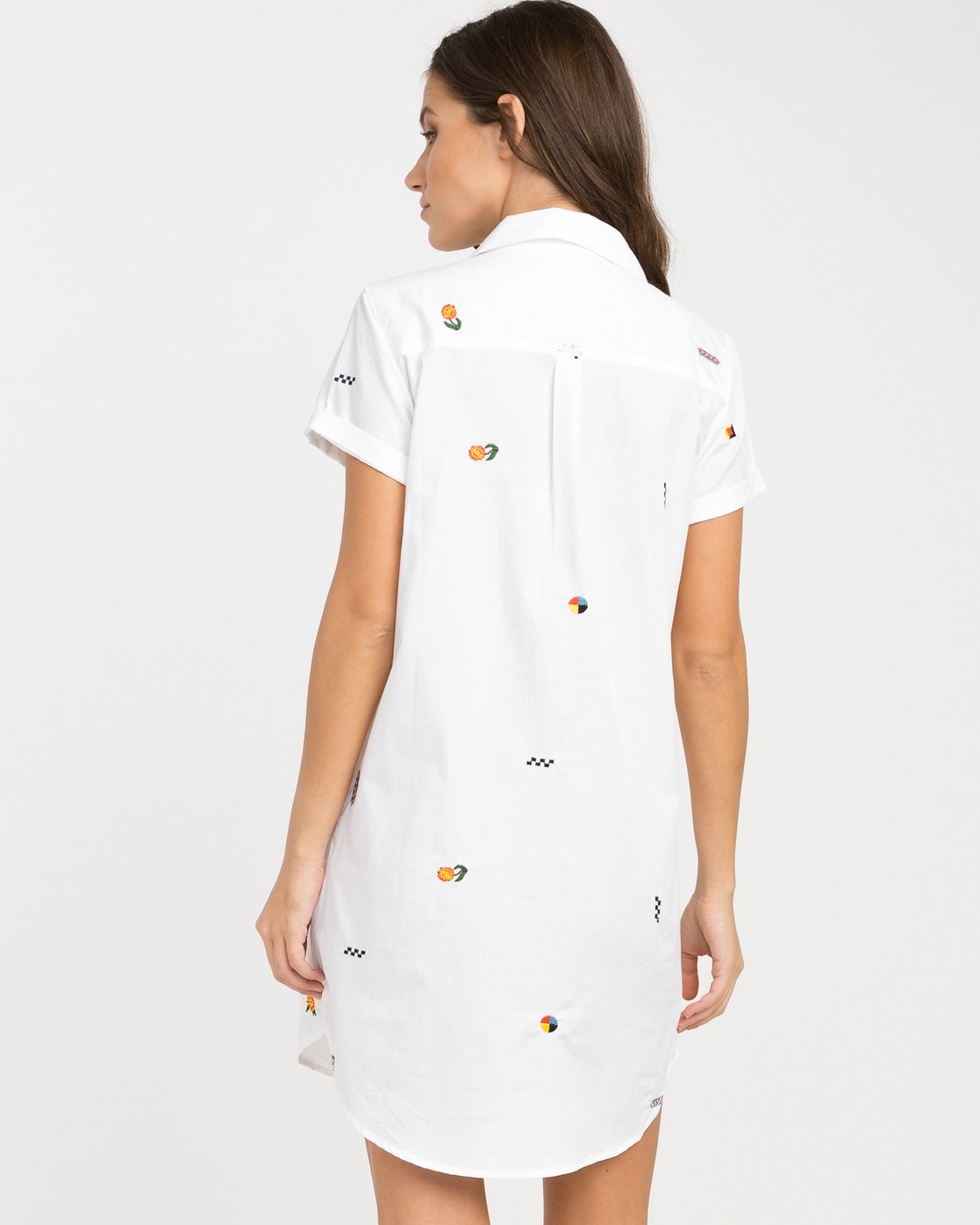 2 Luke Pelletier Ditz Embroidered Shirt Dress  WD01NRDI RVCA
