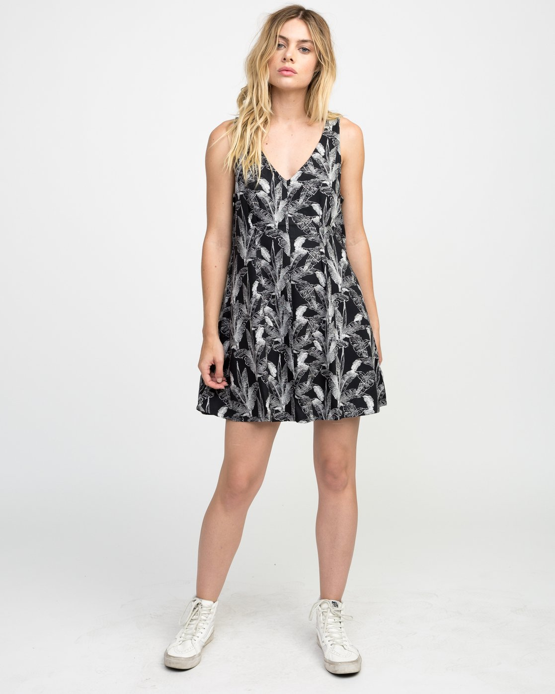 3 Landline Printed Woven Dress  WD01NRLA RVCA