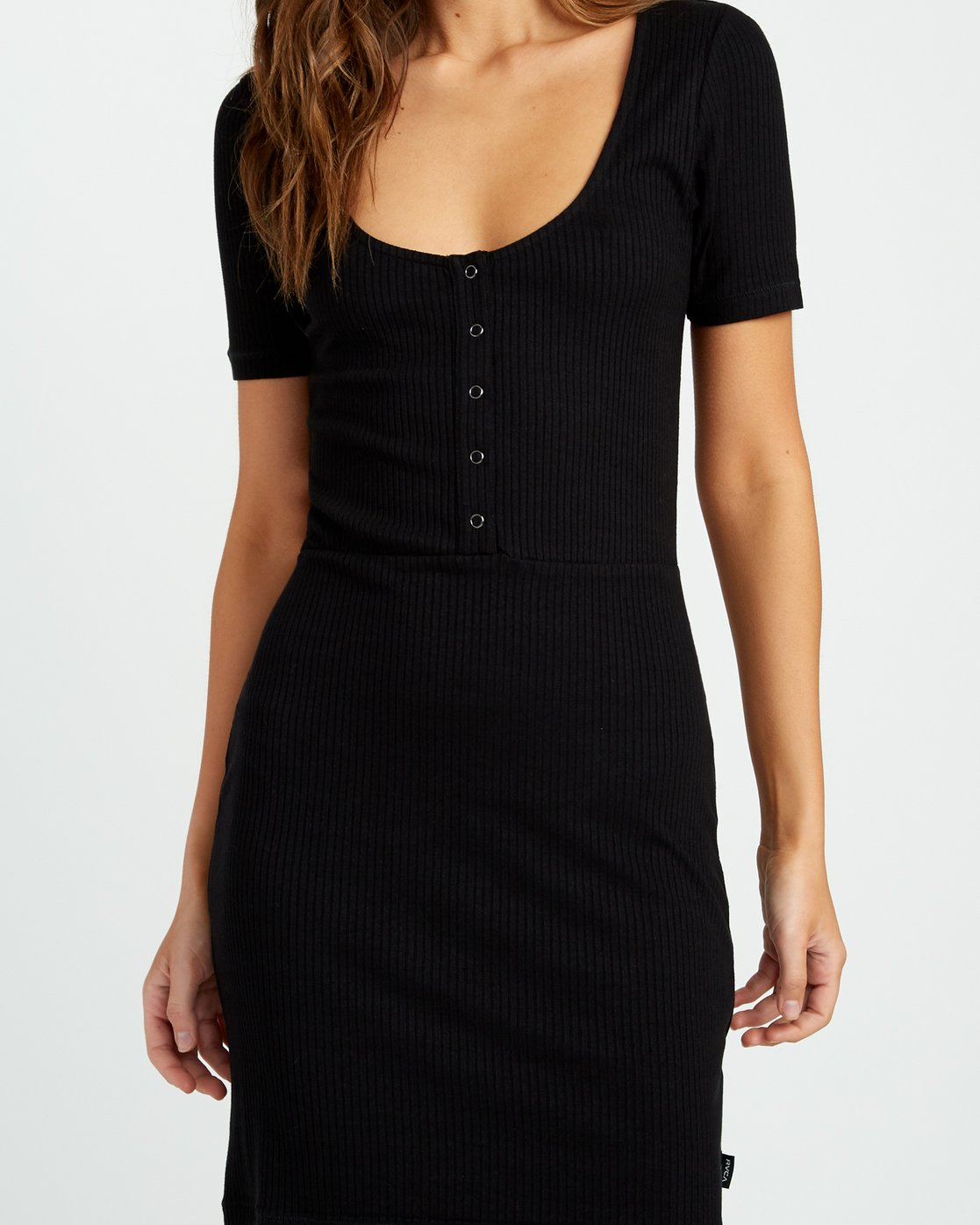 3 Go For Broke Ribbed Dress Black WD01URGO RVCA