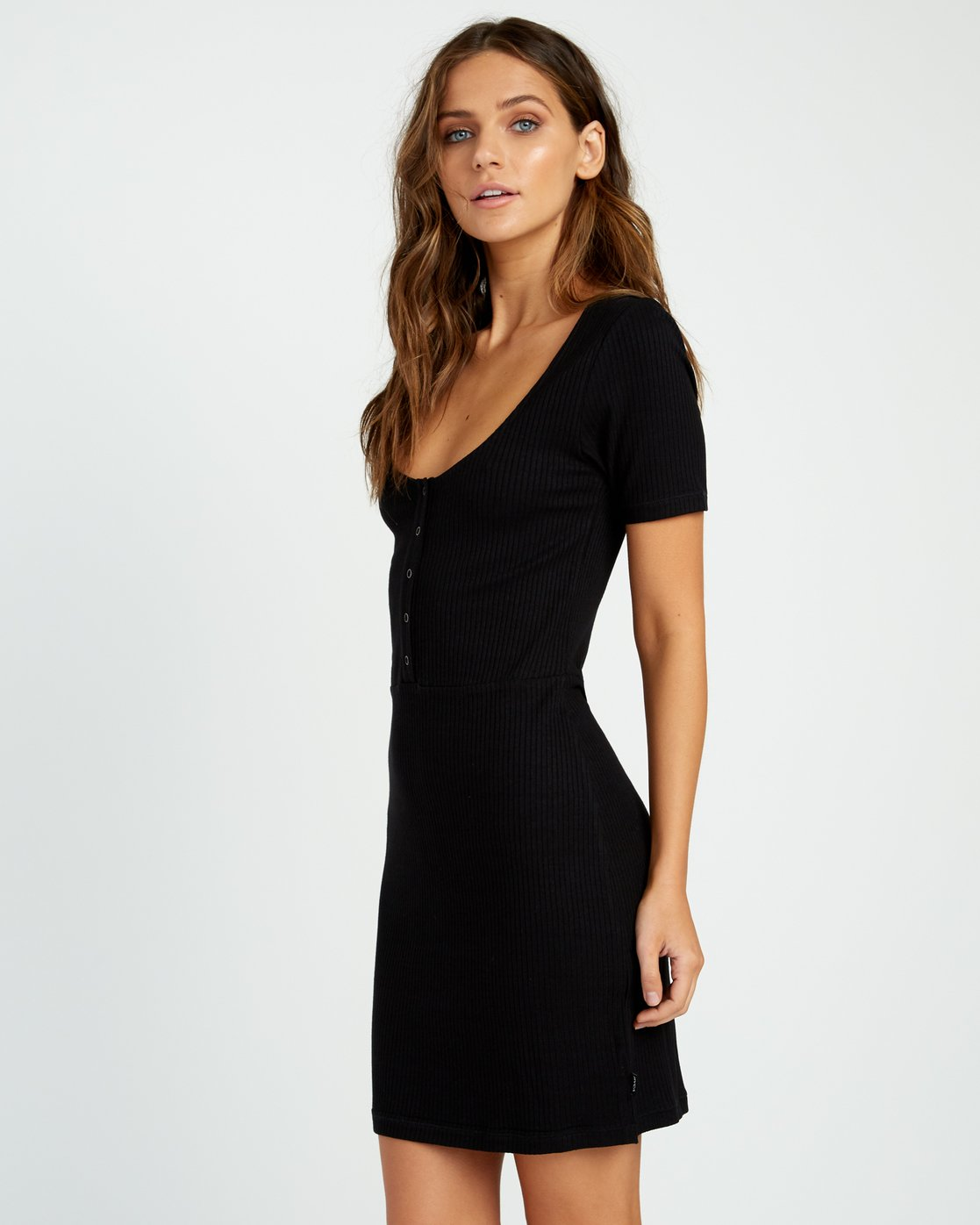 1 Go For Broke Ribbed Dress Black WD01URGO RVCA