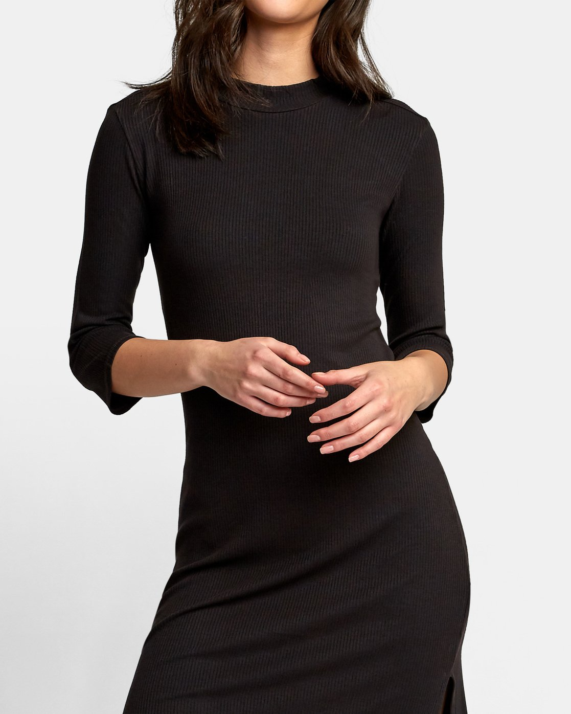 4 Cobra Ribbed Dress Black WD01WRCO RVCA
