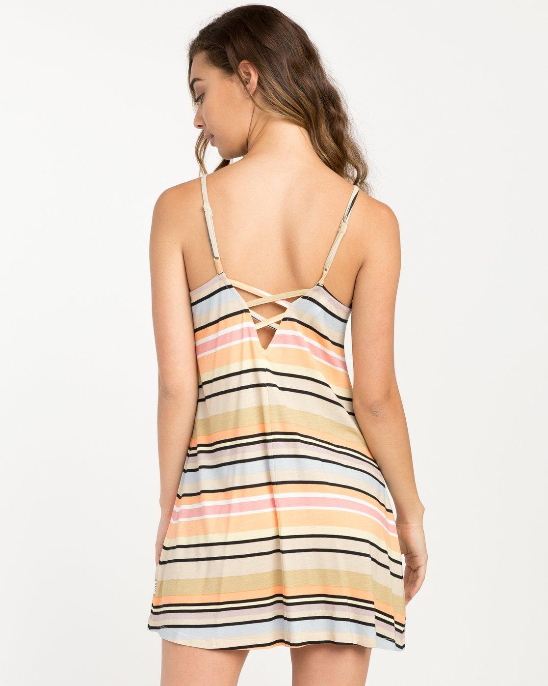 3 Hyacinth Striped Dress Beige WD02PRHY RVCA