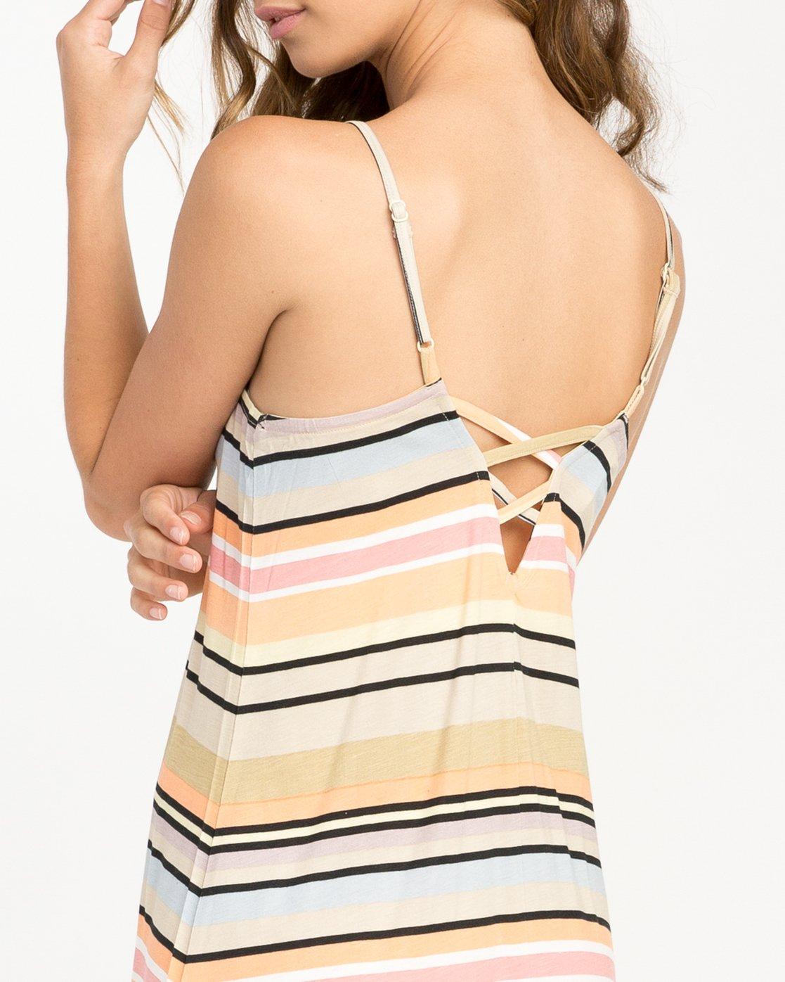 4 Hyacinth Striped Dress Beige WD02PRHY RVCA