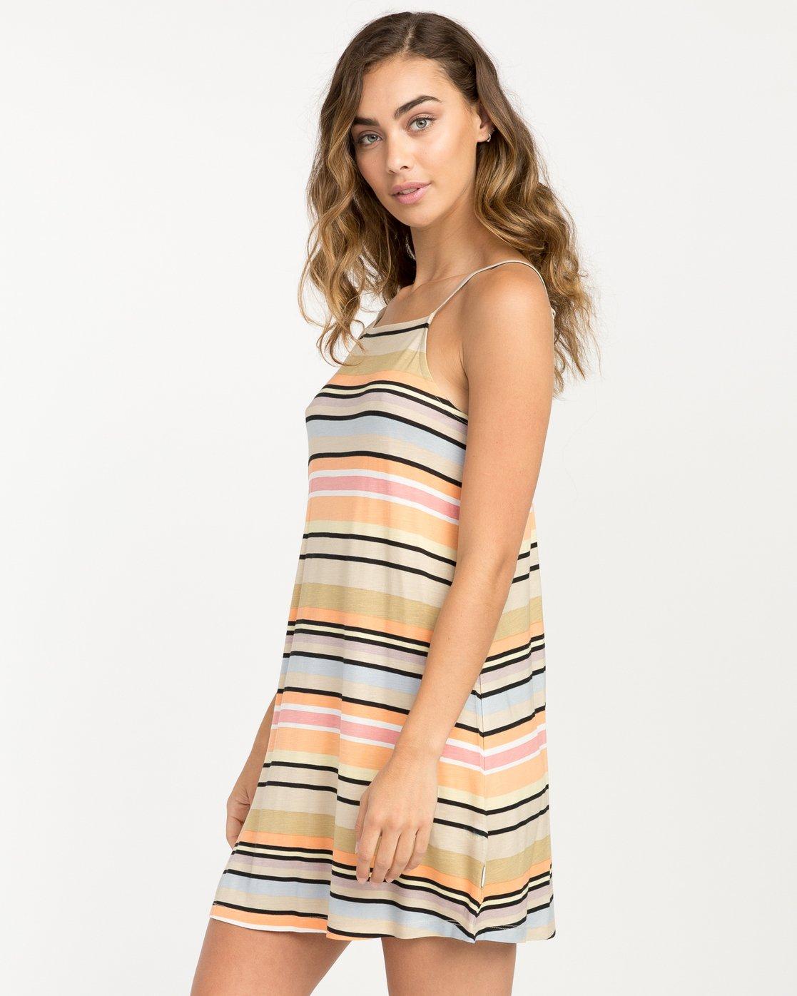 1 Hyacinth Striped Dress Beige WD02PRHY RVCA