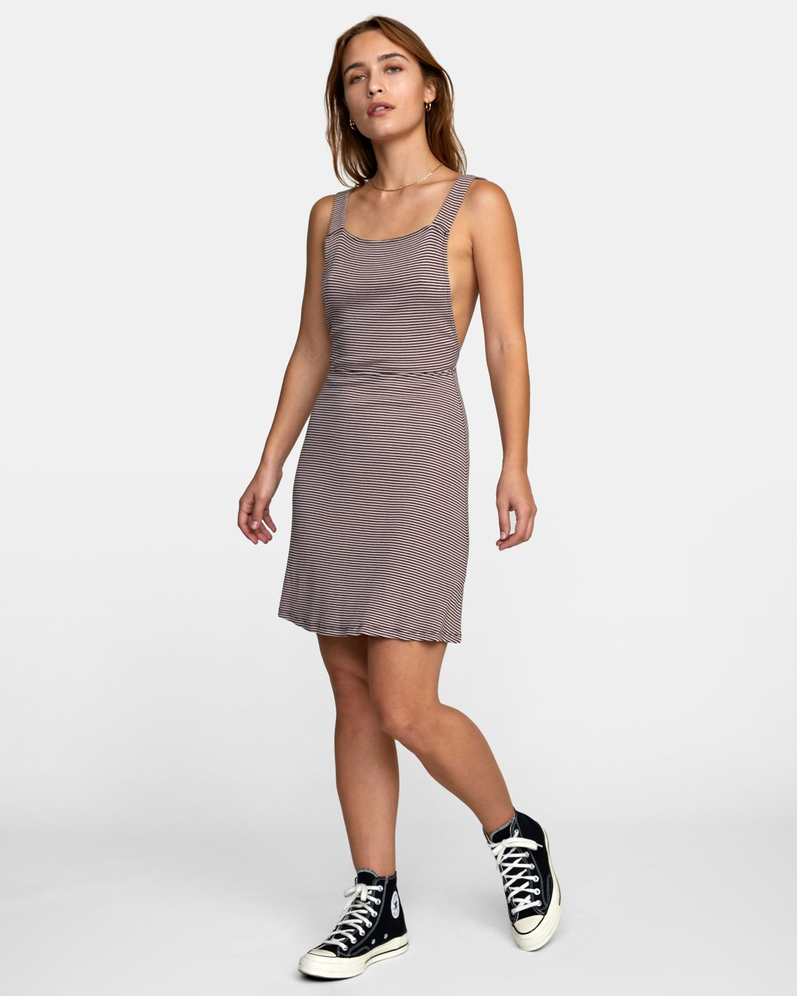 2 BRONWEN DRESS Grey WD032RBR RVCA