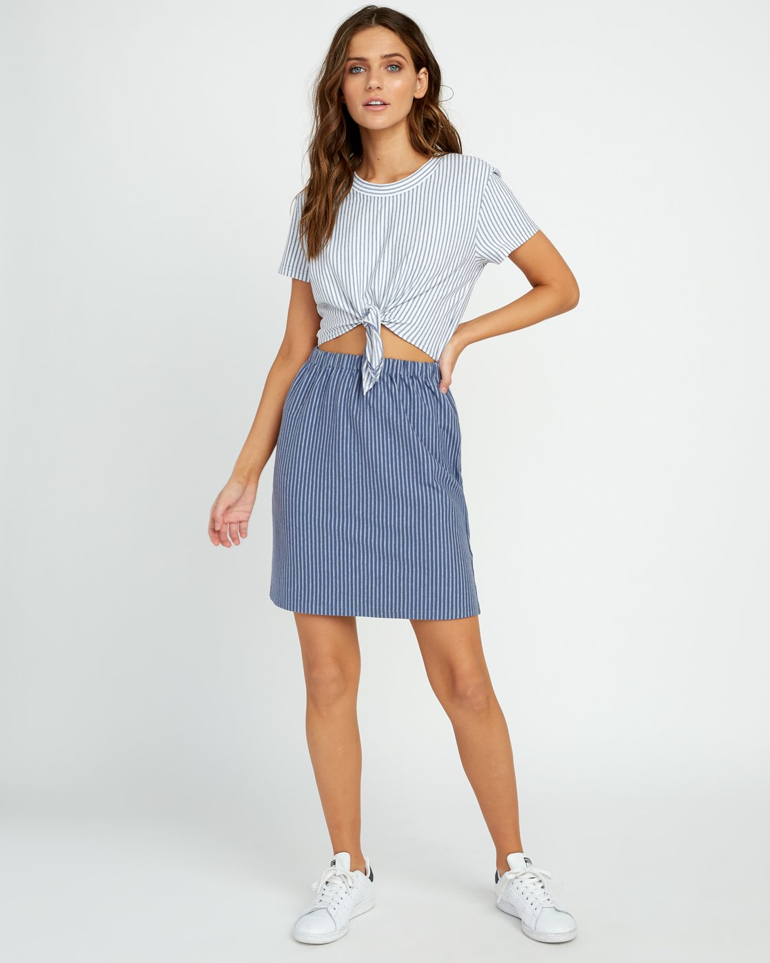 5 Fade Out Striped Knot Dress Blue WD03URFA RVCA