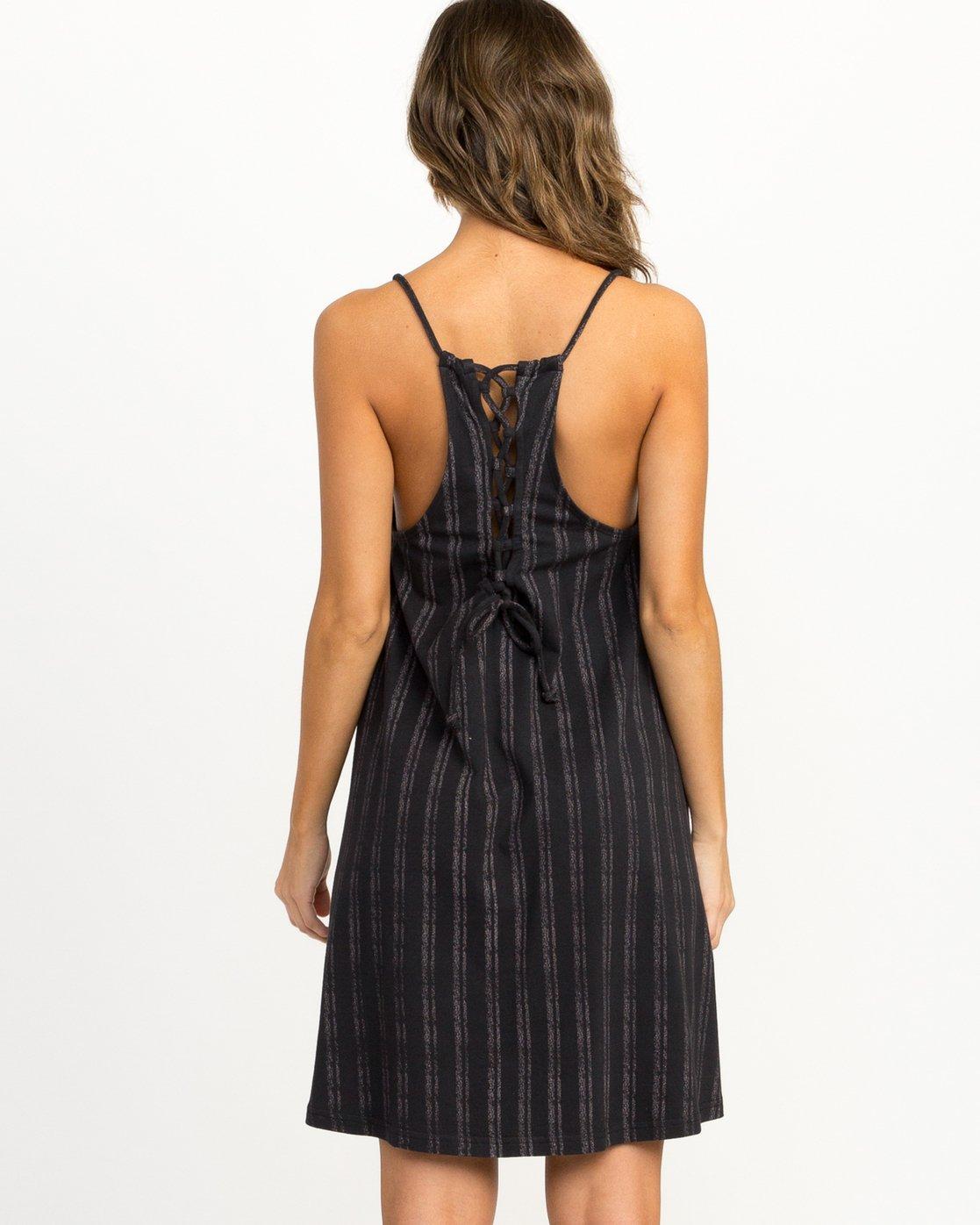 2 Exit Strappy Tank Dress Black WD04QREX RVCA