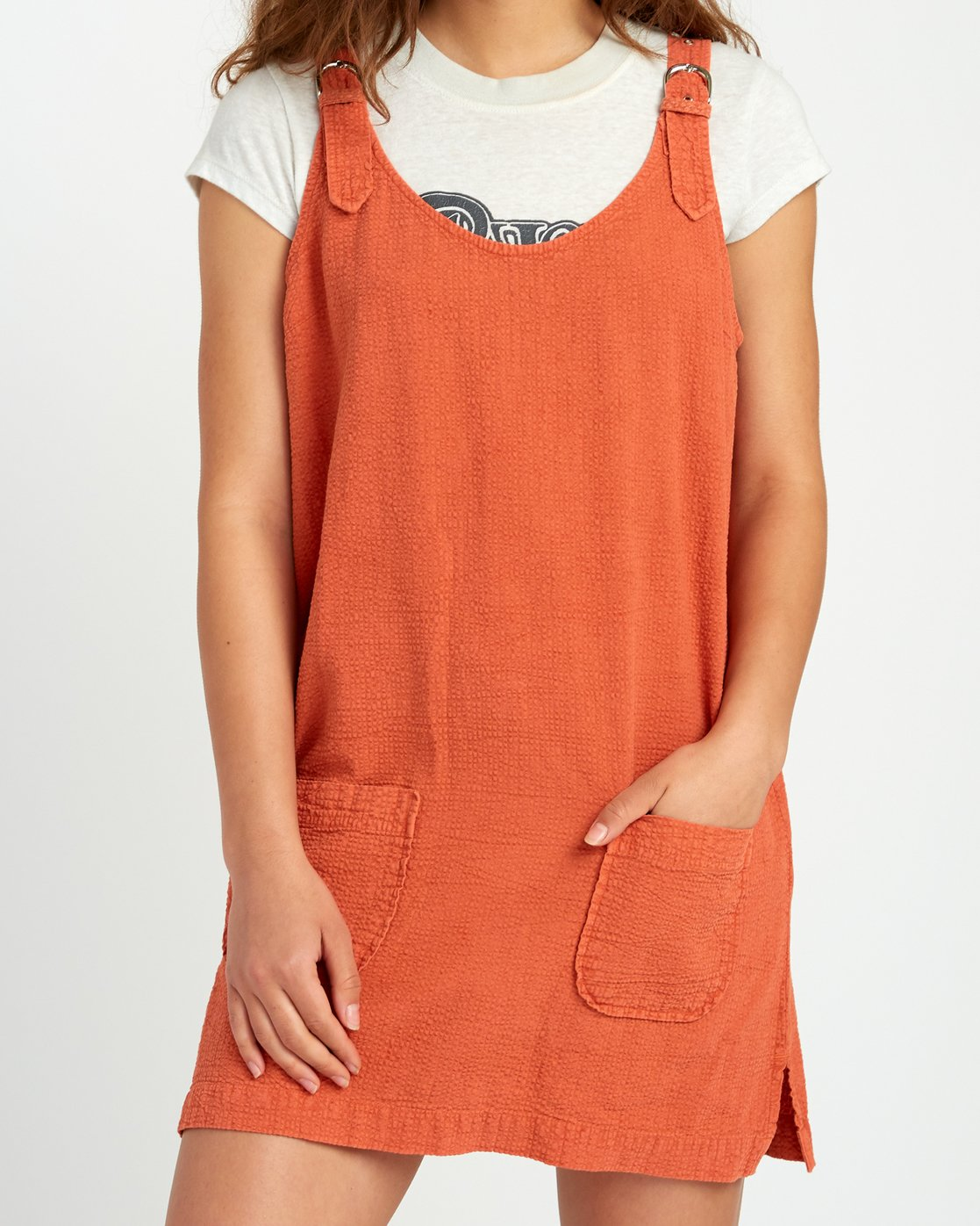 4 Teach That Textured Overall Dress  WD04URTE RVCA