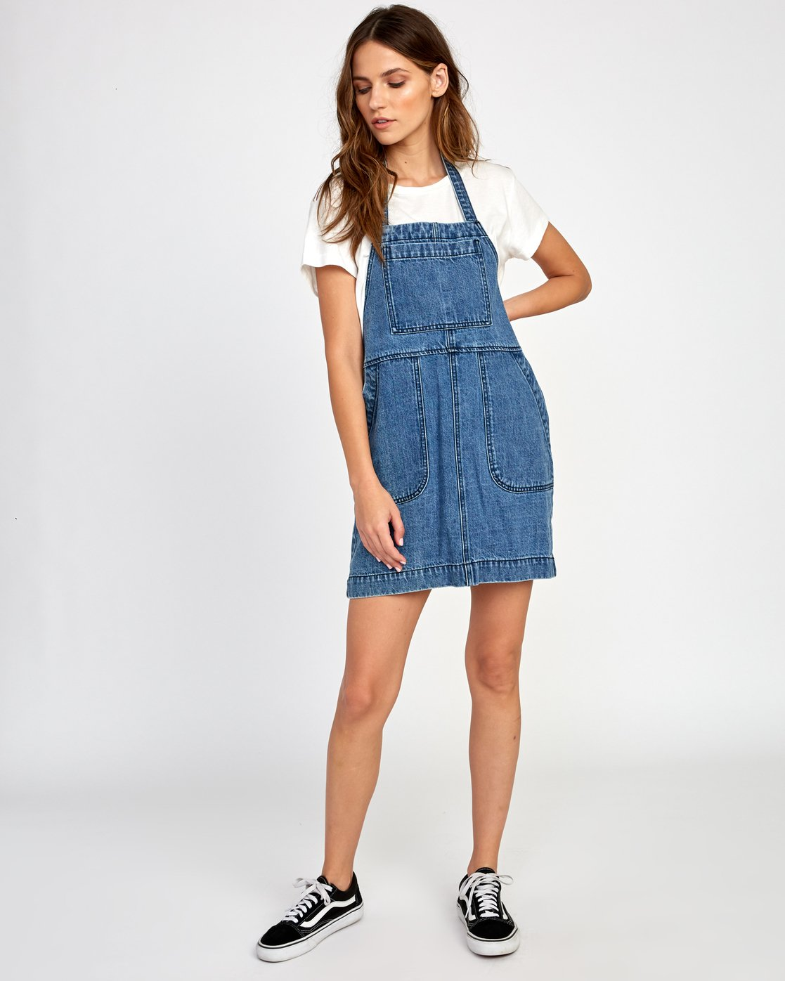 6 Bolt Out Denim Dress Blue WD04VRBO RVCA