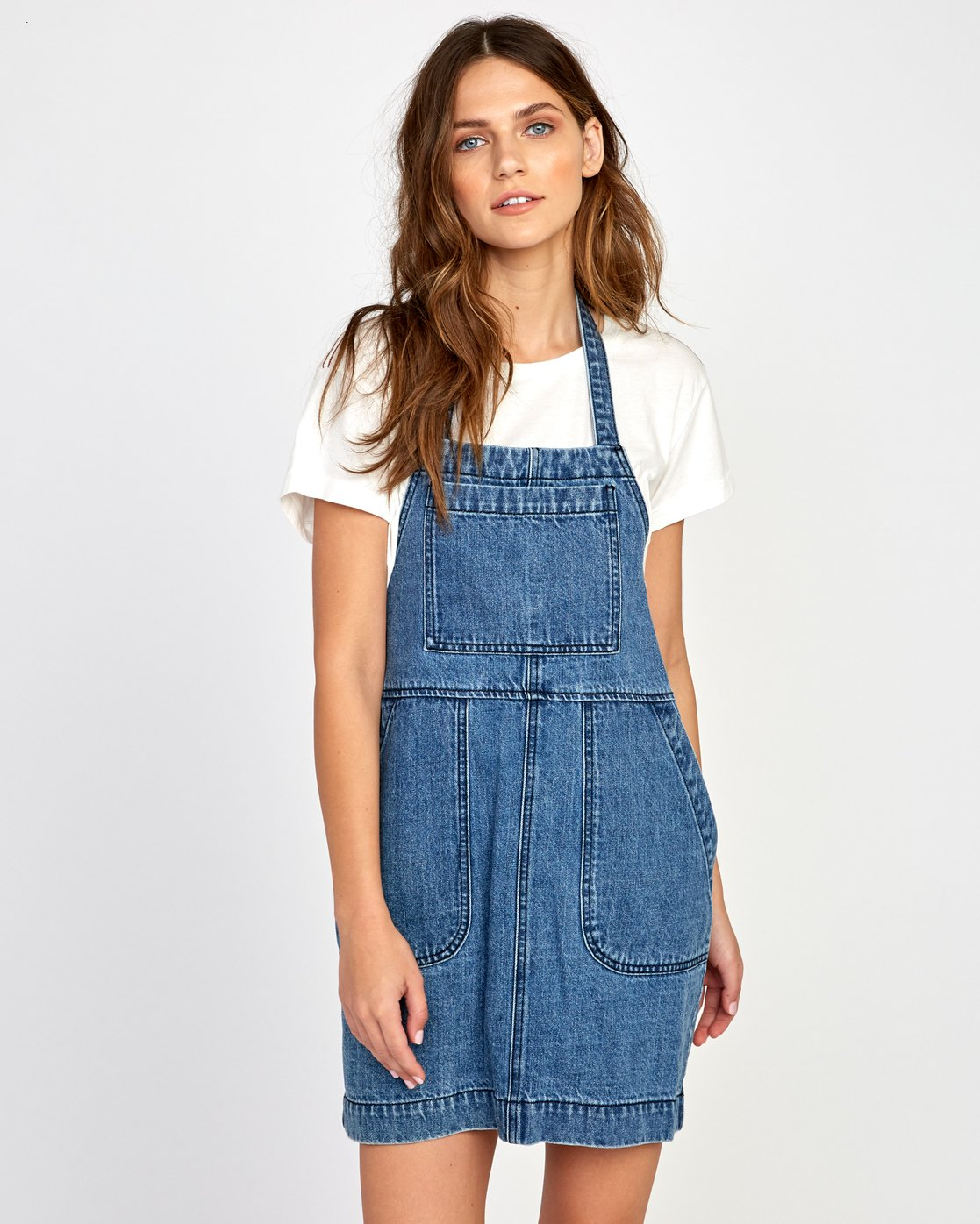 1 Bolt Out Denim Dress Blue WD04VRBO RVCA