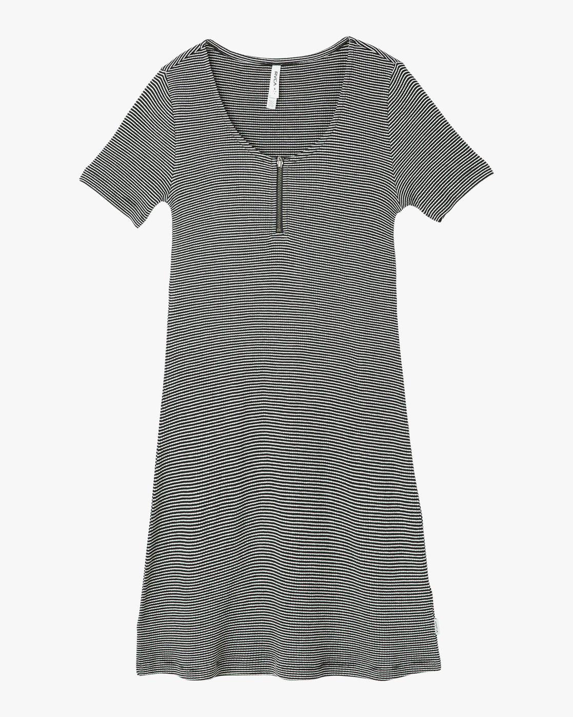 4 Zip It Ribbed Dress  WD05NRZP RVCA