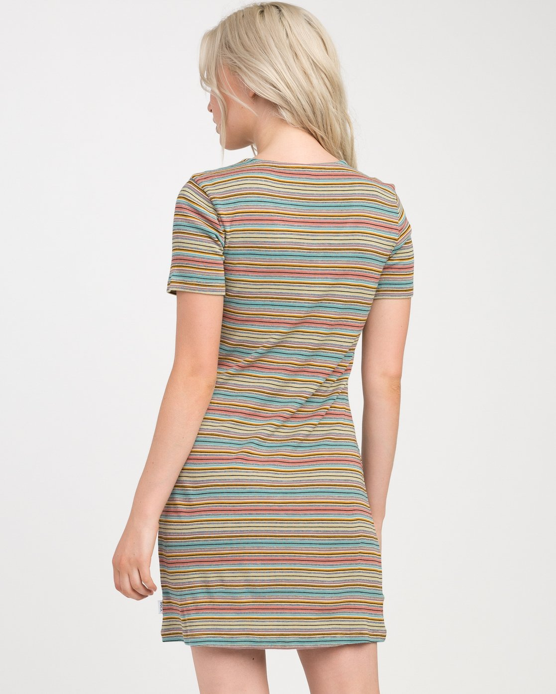 2 Zip It Ribbed Dress Multicolor WD05NRZP RVCA