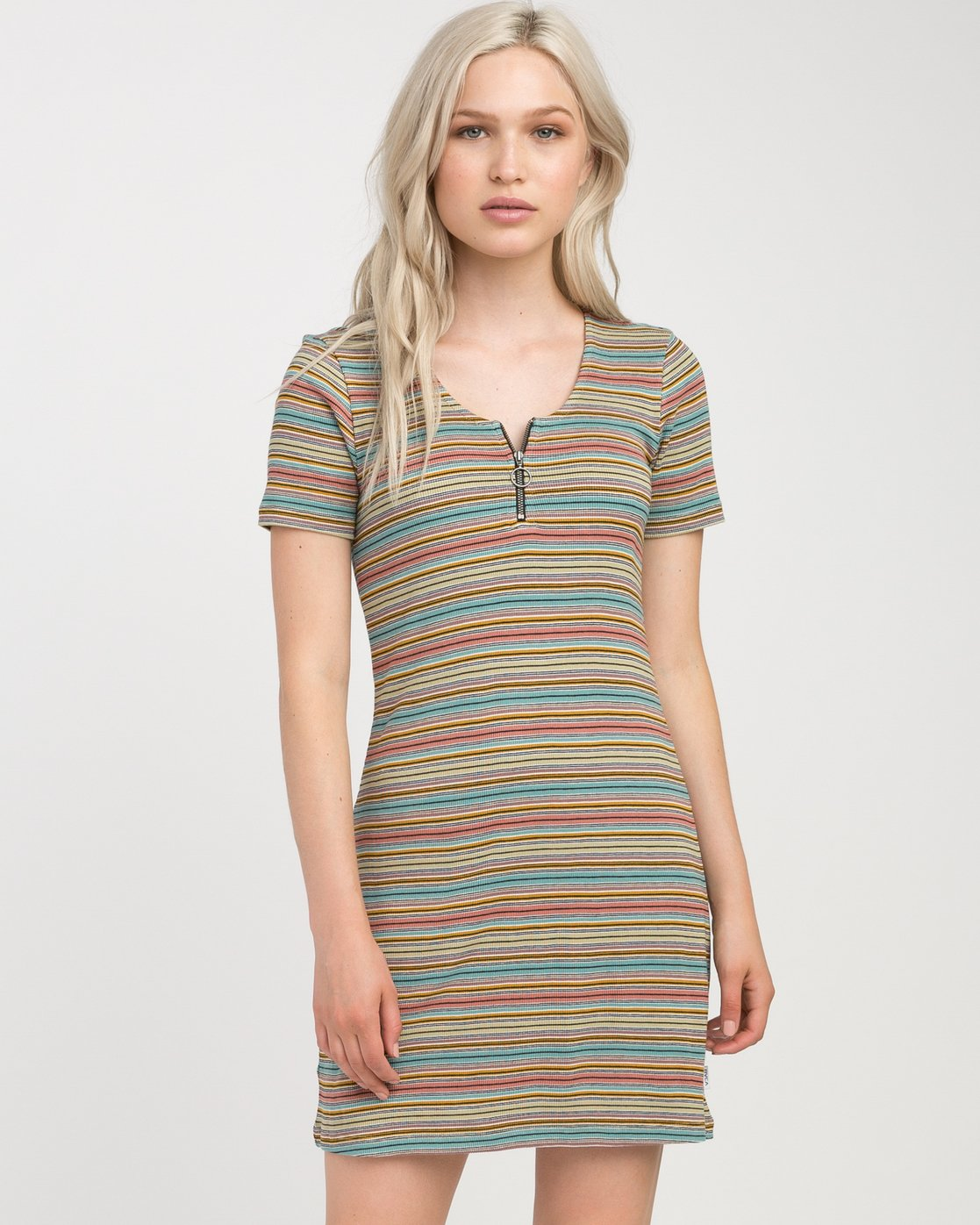 0 Zip It Ribbed Dress Multicolor WD05NRZP RVCA