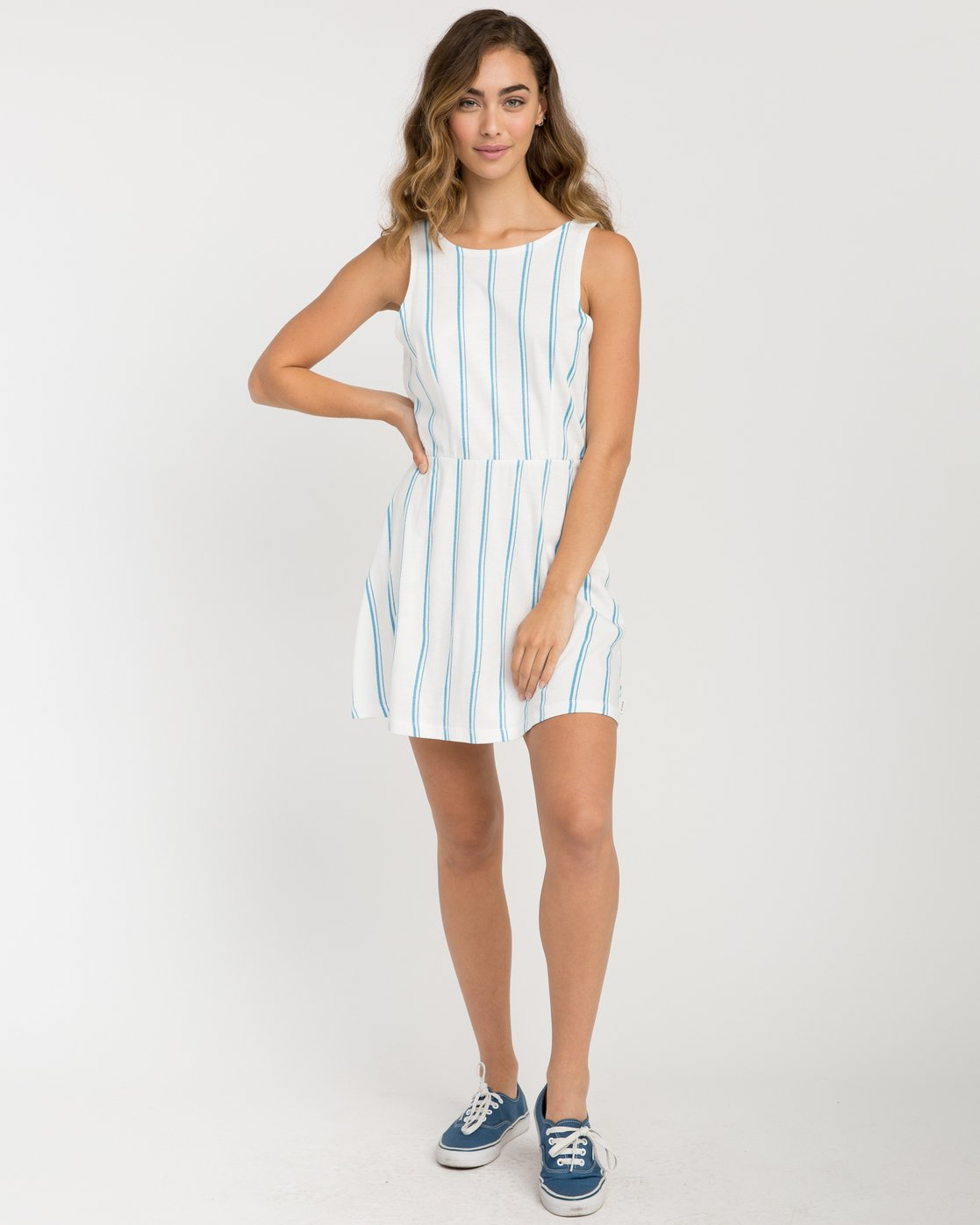 4 Peony Striped Dress White WD05PRPE RVCA
