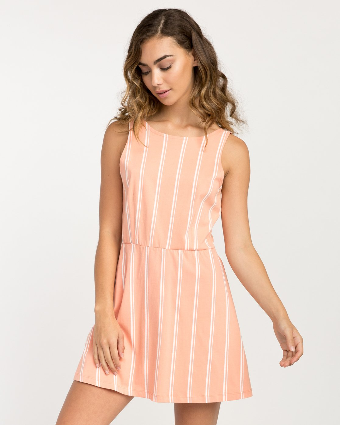 0 Peony Striped Dress Pink WD05PRPE RVCA