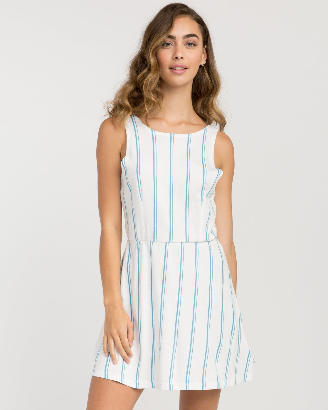 0 Peony Striped Dress White WD05PRPE RVCA